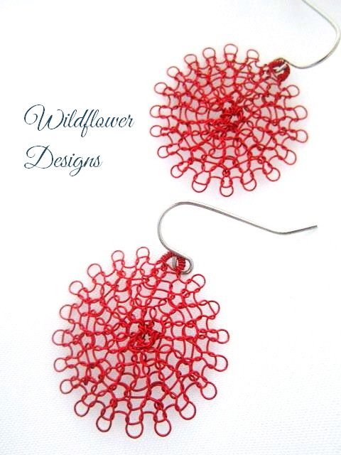 Red Wire Flowers
