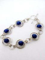 Lapis Round the World Bracelet