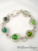 Green Round the World Bracelet