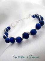 Lapis Wave Bracelet