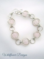 Rose Quartz Round the World Bracelet