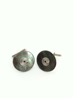 Black MOP Cufflinks - Set A