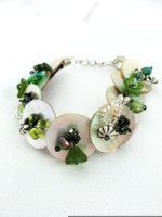 Embellished MOP Bracelet Greens