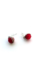 Coral Wrap Post Earrings