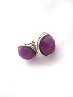 Lepidolite Wrap Post Earrings