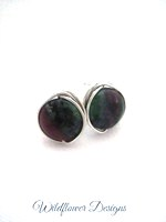 Ruby Zoisite Wrap Post Earrings