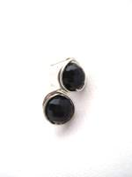 Black Crystal Wrap Post Earrings