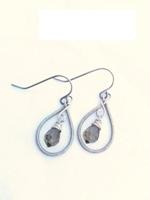 Coiled Frames - Smokey Grey Earrings