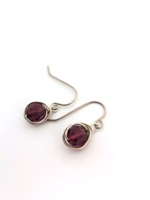 Amethyst Crystal Wrap Earrings