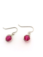 Fuschia Crystal Wrap Earrings