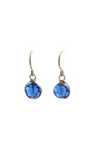 Sapphire Crystal Wrap Earrings
