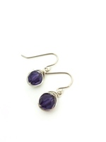 Purple Velvet Crystal Wrap Earrings