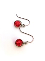 Padparascha Crystal Wrap Earrings