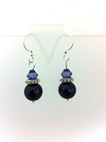 Swarovski Dark Purple Pearls w Tanzanite crystal bicones