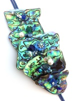 Embellished Paua Bracelet Blues and Teals