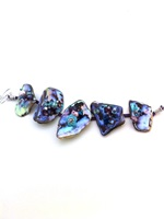 Embellished Paua Bracelet Purples and Aquas