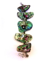 Embellished Paua Bracelet Olives & Cranberry