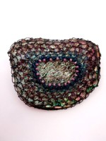 Embellished Paua Brooch - Wire Trio