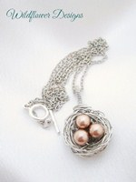 Bronze Pearl Nest Necklace