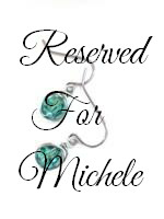 Reserved for MK - Erinite Wire Wrapped Earrings