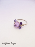 Lilac Crystal Wrap Ring