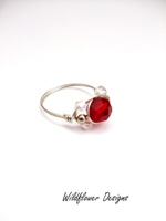 Red Crystal Wrap Ring