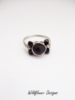 Black Crystal Wrap Ring