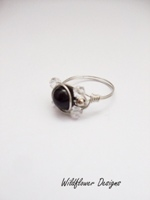 Midnight Black Pearl  Wrap Ring