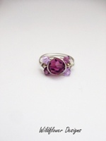 Amethyst Crystal Wrap Ring