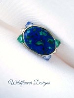 Lapis Malachite Wrap Ring
