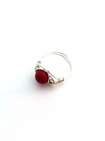 Red Pearl Wrap Ring