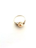 Cream Pearl Wrap Ring