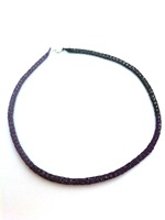 Purple 3 COLOUR Wire Knit Tube Necklace