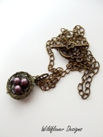 Burgundy Nest Necklace