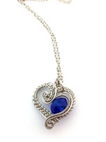 Hearts Delight with Royal Blue Crystal