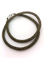 Knitted Tube Necklace Gunmetal