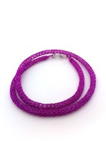 Knitted Tube Necklace Plum
