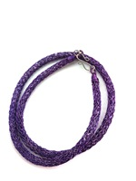Knitted Tube Necklace Amethyst