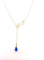 Summer Necklace - Blue Crystal Drop