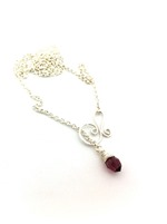 Summer Necklace - Amethyst Crystal Drop