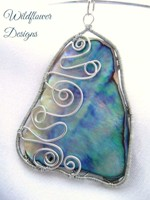 Wired Paua in Silver