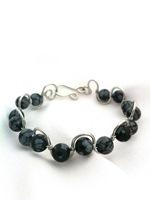 Snowflake Obsidian Wave Bracelet
