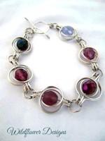 Purple Round the World Bracelet