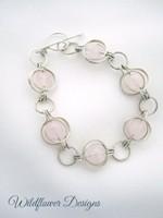 Rose Quartz Round the World Bracelet