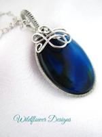 Velvet Blue Swirl