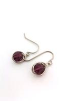 Amethyst Crystal Wrap Earrings