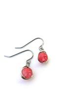 Cherry Quartz Wrap Earrings