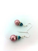 Swarovski Rose Pink Pearls w Indocolite crystal bicones