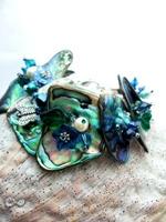Embellished Paua Bracelet Blues and Teals