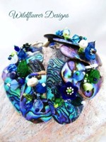 Embellished Paua Bracelet - Blues and Greens